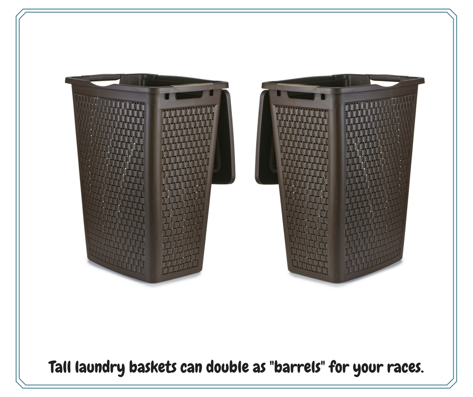 Tall laundry baskets